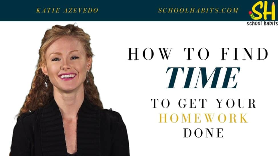 how to find time to get homework done