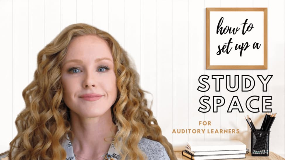 how to create a remote learning study space auditory learner