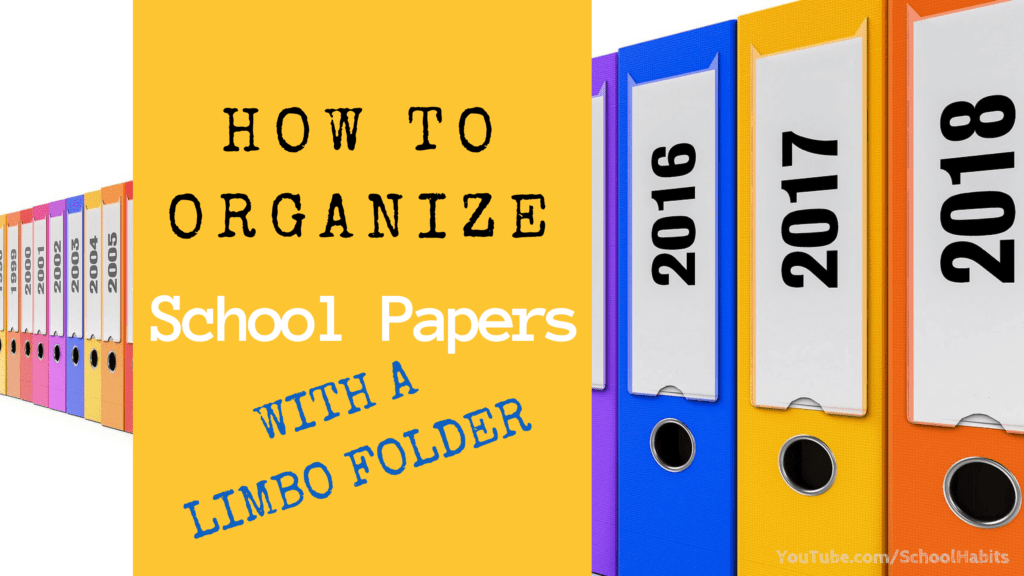 how to organize school papers