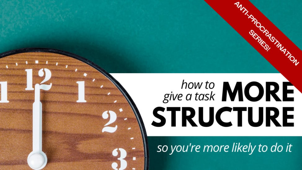 how to give a task structure