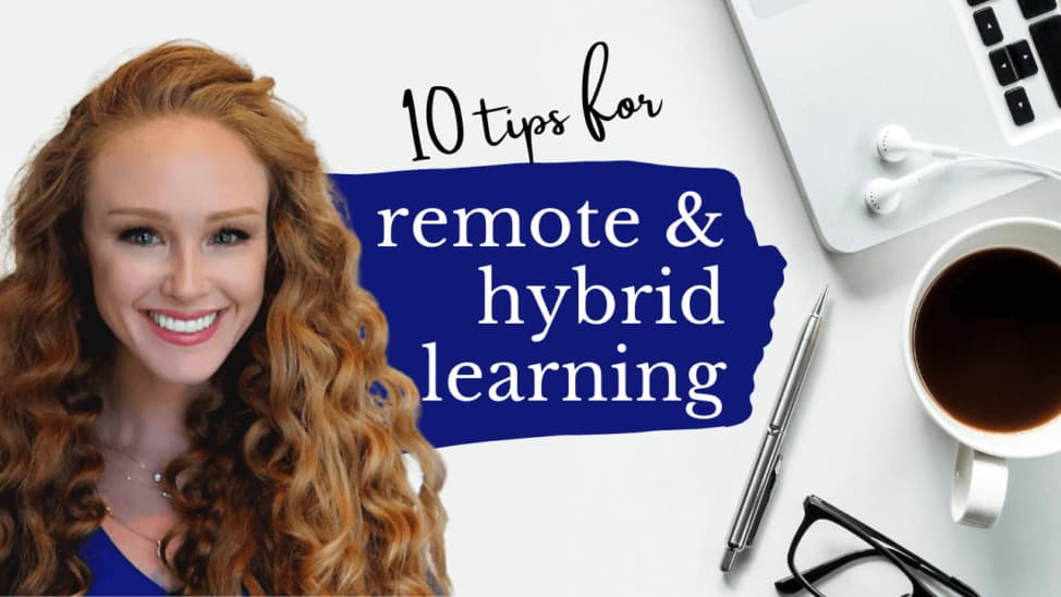 tips for remote learning and hybrid learning