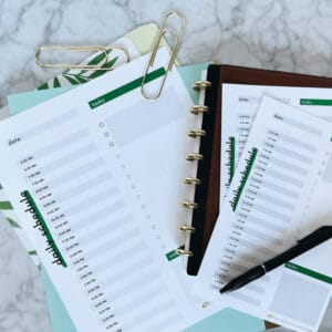 Daily schedule and task list printable 1