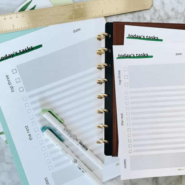 Simple daily task list printable 1