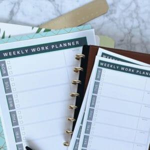 weekly work planner printable 1