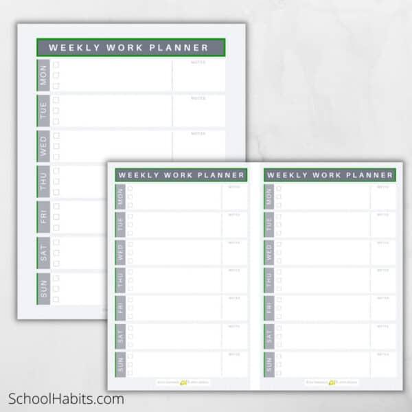 weekly work planner printable 2