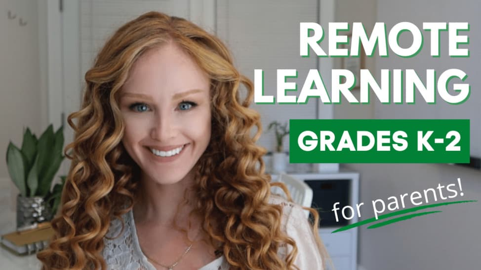 remote learning tips for early elementary