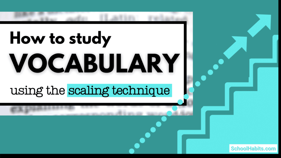 how to study vocabulary words scaling technique