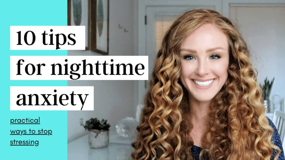 tips for anxiety at nighttime