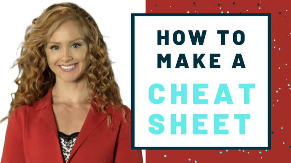 How to make a cheat sheet thumbnail