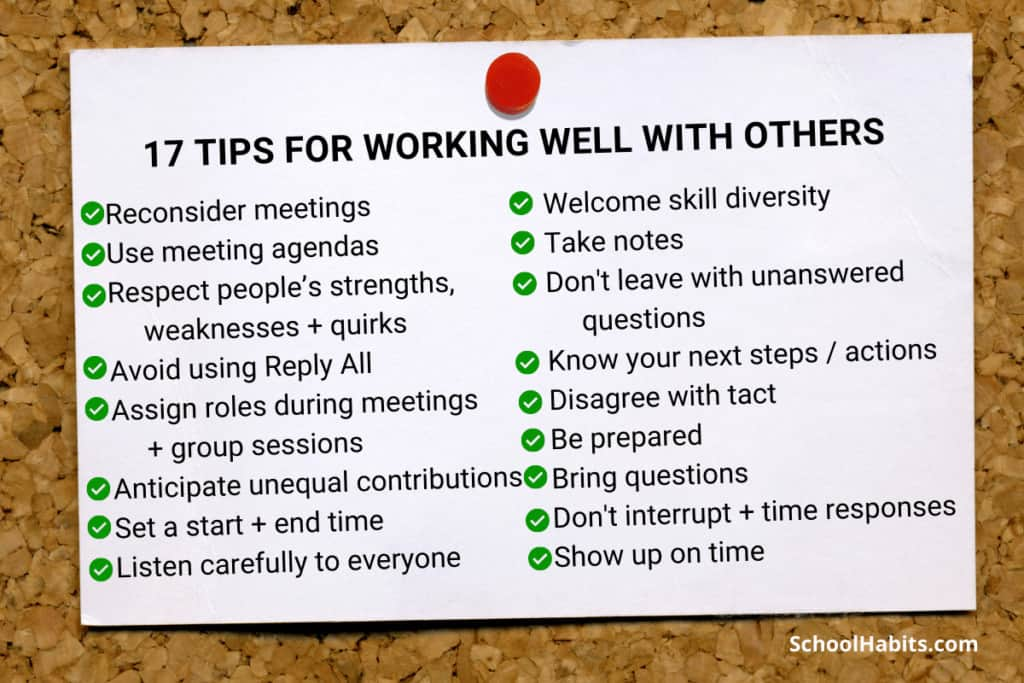 how to work well with others in groups