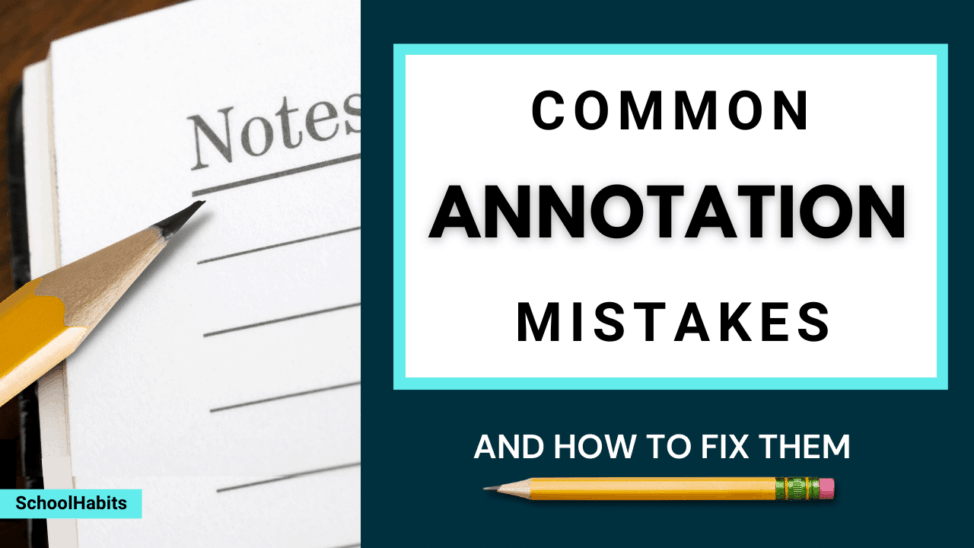 common annotation mistakes