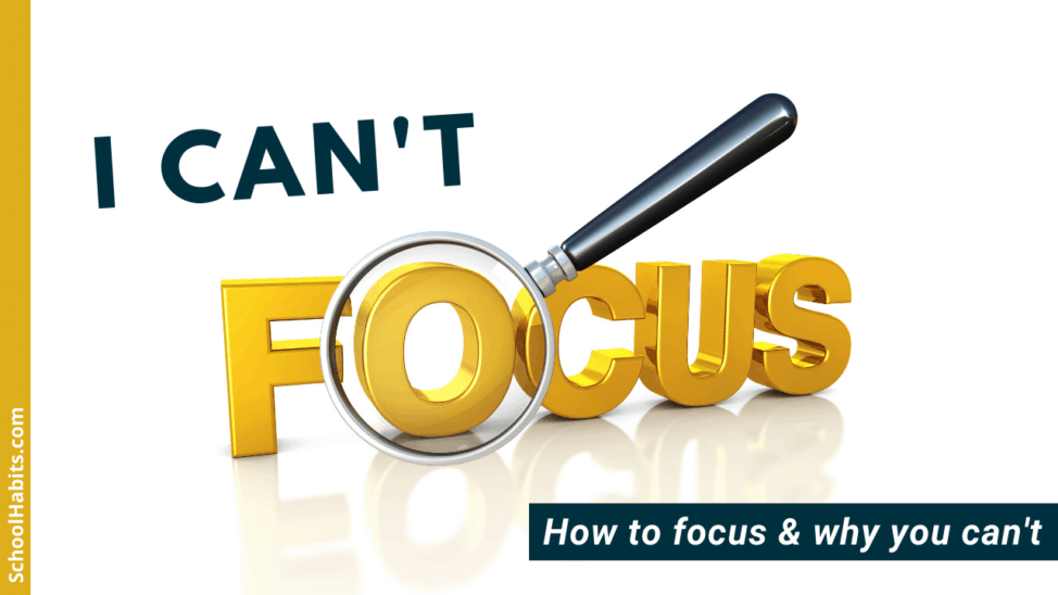 I can't focus how to focus